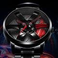 Reloj NIBOSI con cubo de llanta para hombre, diseño personalizado, reloj para hombre, reloj de acero inoxidable, reloj creativo impermeable, Masculino