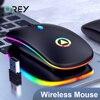 2.4G Silenzioso Mouse Senza Fili Del Mouse 1600DPI RGB Retroilluminato A LED Gaming Mouse Per Macbook Pro Xiaomi Lenovo Ergonomica sedia del Computer PC gamer Mouse