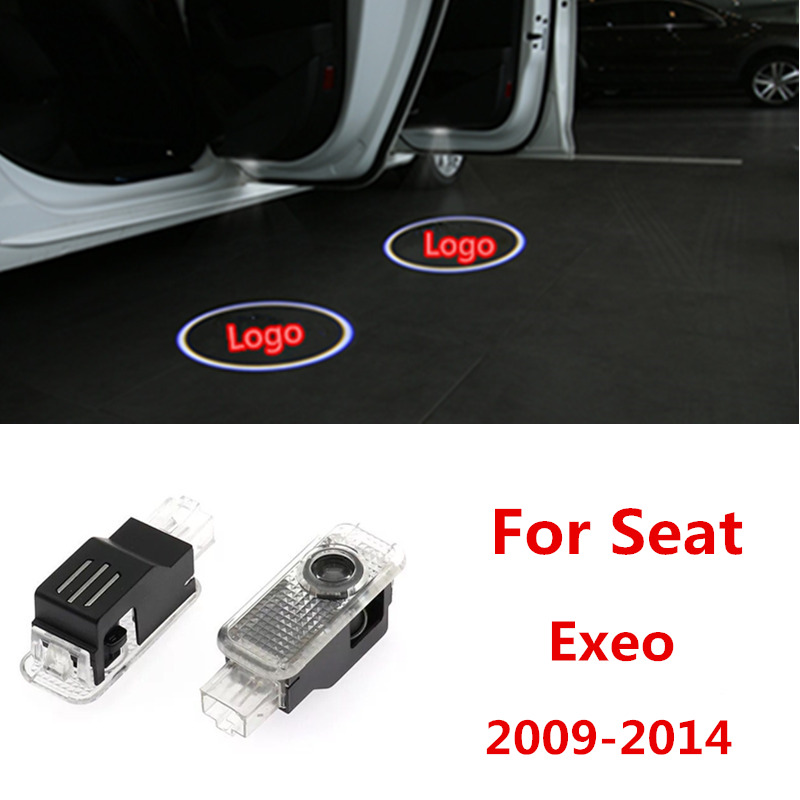 2pcs For Seat Exeo 2009 2010 2011 2012 2013 2014 FR Logo Styling Car LED Door Logo Welcome Projector Light
