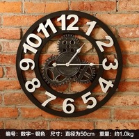 retro individuality wheel gear drawing room wall clock mural creativity dining room wall space pub decorate (wall) hanging