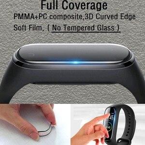 Image 5 - 100 sztuk 3D miękka folia na ekran dla Xiaomi Mi Band 5 Smartwatch Miband 4 pełna pokrywa folia ochronna (bez szkła hartowanego)