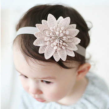 Hair Accessories Girls Turban Headwear Baby Headband Bow Flower Lace Band White Lovely Vintage Hairband