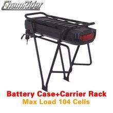 Caja de batería para bicicleta eléctrica, 48V, 36V, 52V, 5V, USB, doble capa, portaequipajes, Shanshan, SSE 078 de plástico, 10S10P, 13S8P