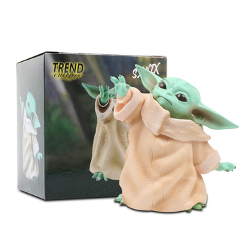 8cm Star Wars Baby Yoda Collection Action Figure Toy PVC Miniature Toys Doll Gift for Children's Day