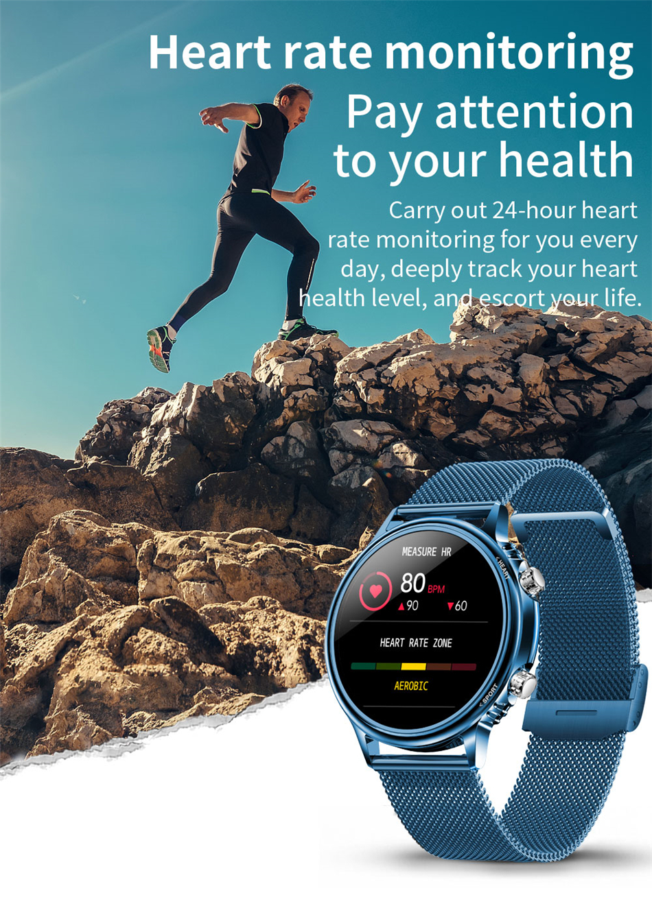 H921912b7378e41ca940f8059d0a419e7i LIGE New Smart Watch Men Custom Dial Full Touch Screen Waterproof Smartwatch For Android IOS Sports Smart watch Fitness Tracker