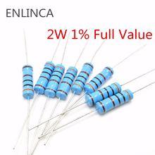 20 шт 2 Вт металлический пленочный резистор 1% 1m 1k 10k 100k