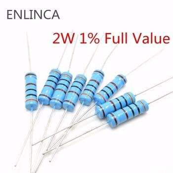 20pcs 2W Metal film resistor 1%  1M   1K 10K 100K 2.2ohm 4.7ohm 10 ohm 22ohm  100ohm  220ohm 470 ohm резистор jantzen superes 10w 10 ohm