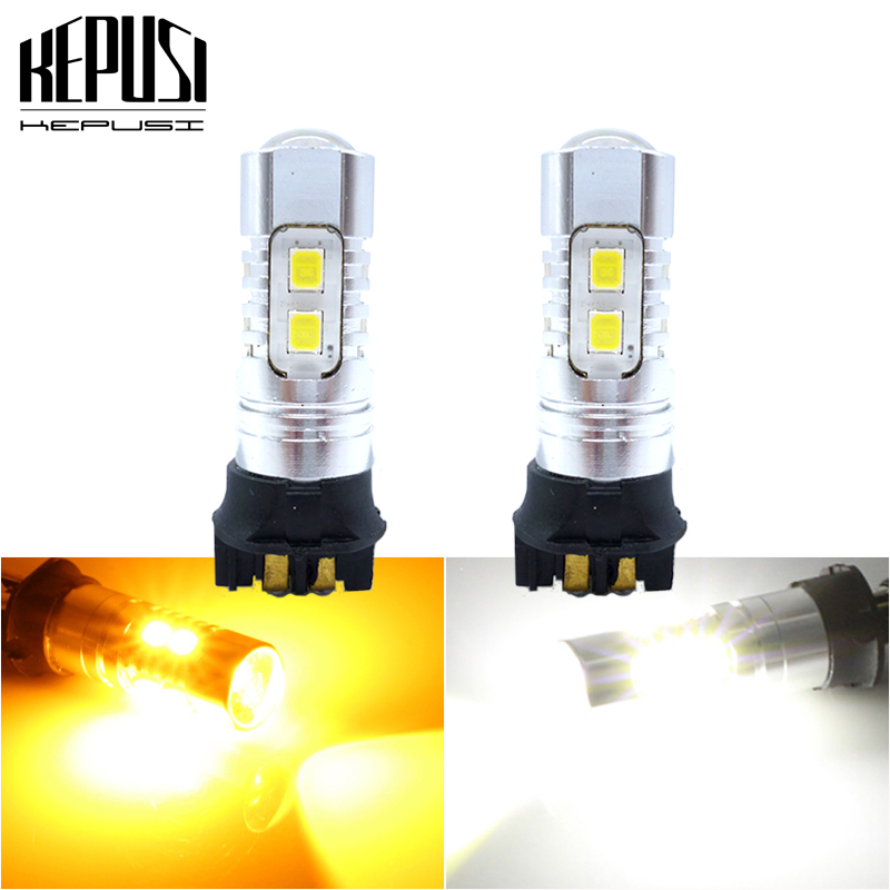 2xWhite Error Free PW24W LED DRL Daytime Running Light Bulb For BMW F30 3 Series