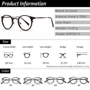 Image 4 - TR90 Gläser Rahmen Männer Retro Kleine Runde Brillen Frauen 2019 Vintage Myopie Optische Rahmen Brillen Brillen