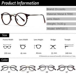 Image 4 - TR90 Glasses Frames Men Retro Small Round Prescription Glasses Women 2019 Vintage Myopia Optical Frames Eyeglasses Eyewear