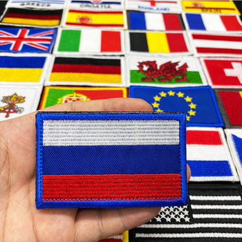 Country Flag Embroidered Velcro patch Russia Spain Turkey France EU Tactical Military Patches Army Backpack Cloth Decoration embroidered patches united states new york state flag patch tactical 3d national flags army armband badge