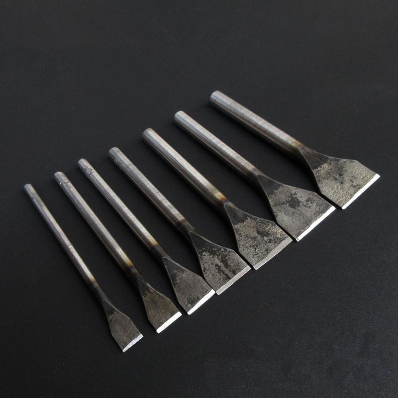 7 шт./компл. Кожа ремесло инструменты штемпель для вырубки прямой удар DIY ручной работы кожаные инструменты Резка      АлиЭкспресс