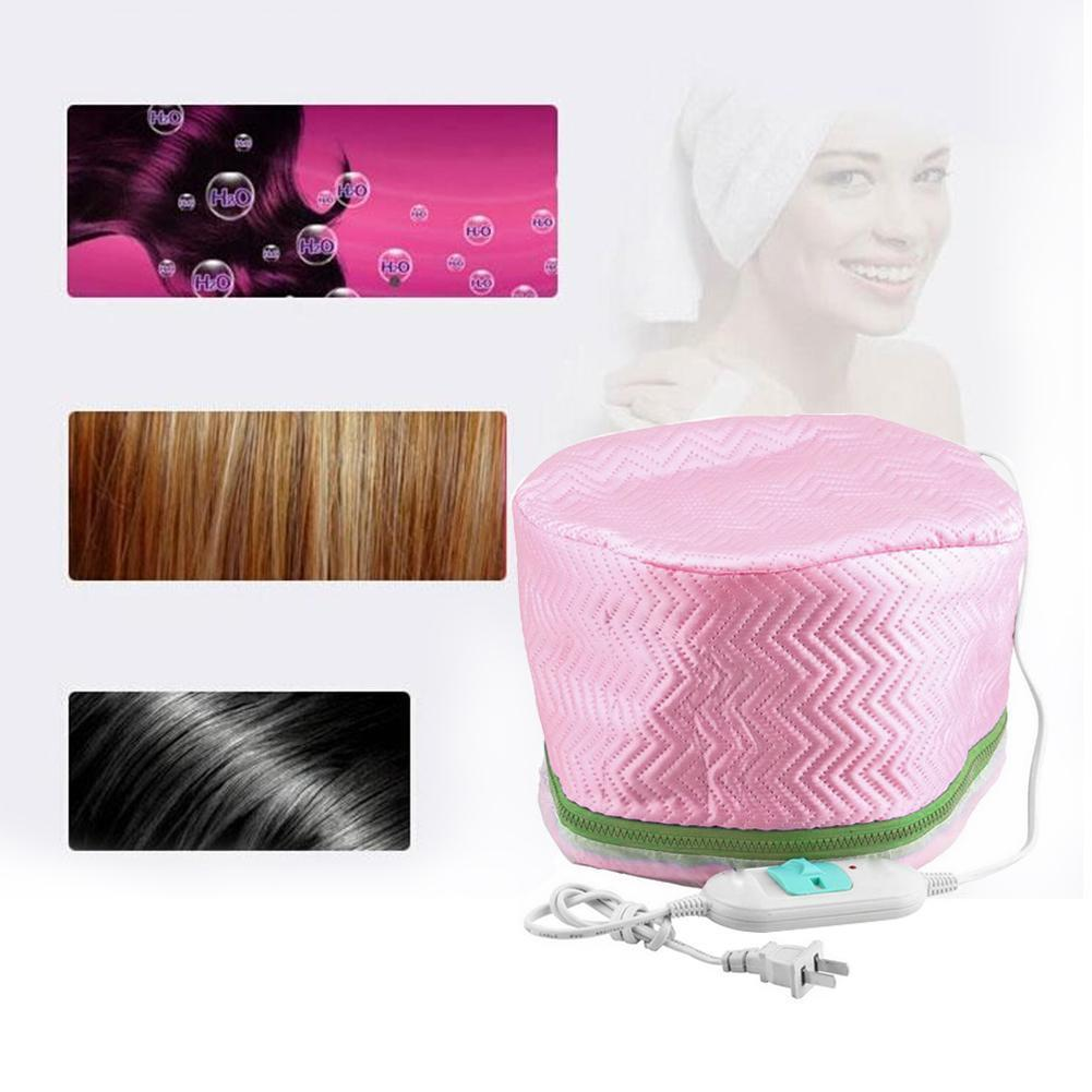 Newly Electric Hair Mask Baking Oil Cap Thermal Treatment Heating Cap Temperature Control Protection Hair Steamer Mask Cap