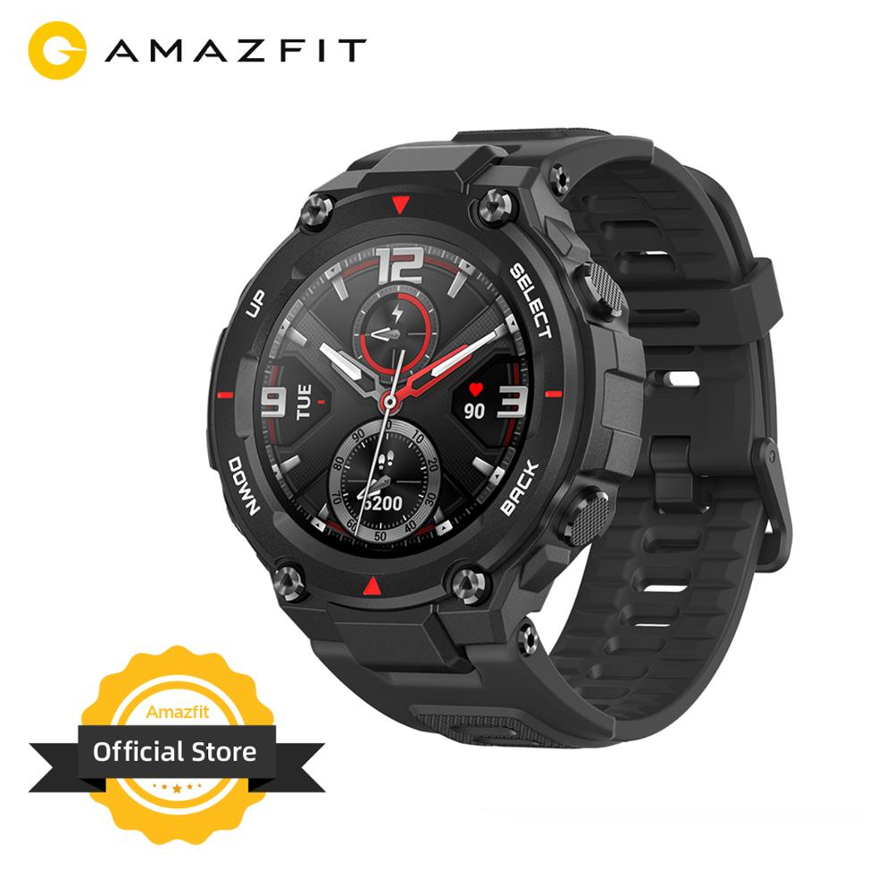 New 2020 CES Amazfit T rex T rex Smartwatch Control Music 5ATM Smart Watch GPS/GLONASS 20 days battery life MIL STD for Android Smart Watches  - AliExpress