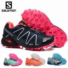 Salomon speed cross 3 III, женская обувь, высокое качество, Solomon, дышащие кроссовки, женские, для спорта на открытом воздухе, обувь для фехтования