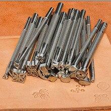 LMDZ металлический инструмент для изготовления кожаного седла, инструменты для резьбы по коже, штамповки для ремесла, инструмент для печати т...