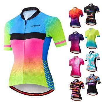 Weimostar pro equipe de ciclismo jérsei das mulheres verão mtb bicicleta camisa maillot ciclismo roupas secagem rápida 1