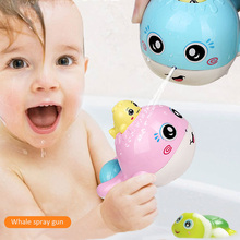 Bath Toy Water spray toys whale splashing shower Children Cute Baby Candy Color ABS Room Bed Crib 3 years kid Funny cartoon