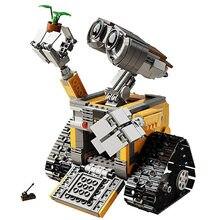 687 pçs wali robô ciência criativa tecnologia personificação blocos de construção tijolos diy educacional técnica brinquedos das crianças
