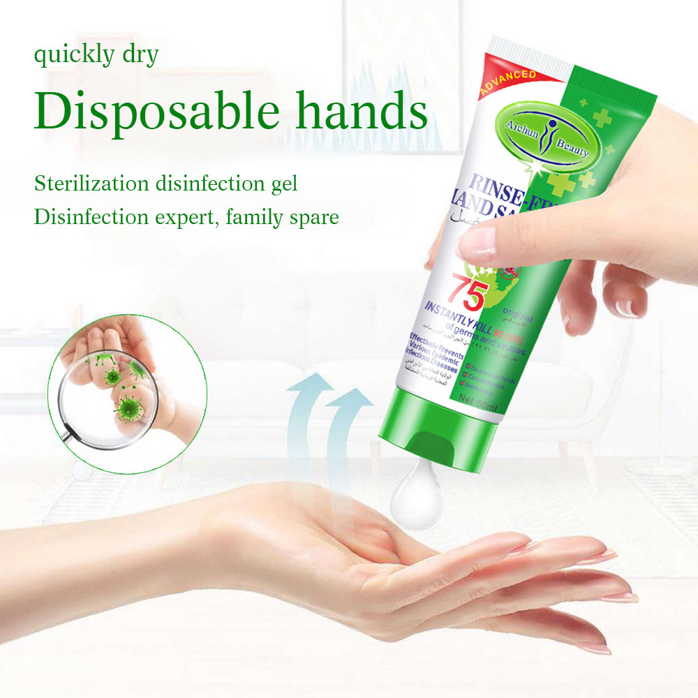 Disposable Hand Sanitizer 75% Alcohol Sterilization Bactericide Antibacterial Disinfection Gel Personal Cleaning Hot Sale