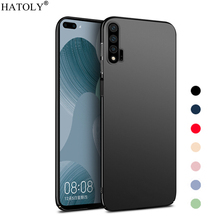 For Cover Huawei Nova 6 Case Ultra-thin Smooth Hard PC Back Case Cover For Nova 6 Protective Phone Bumper Case For Huawei Nova 6 w 1 0 3mm ultra thin protective pc back case cover for iphone 6 transparent grey