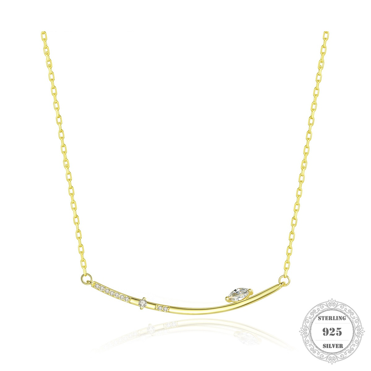 Charm Necklace Star White Zircon Spring Ts Fashion Jewelry Thomas Link Chain 925 Sterling Silver Classic Gift For Women Girl
