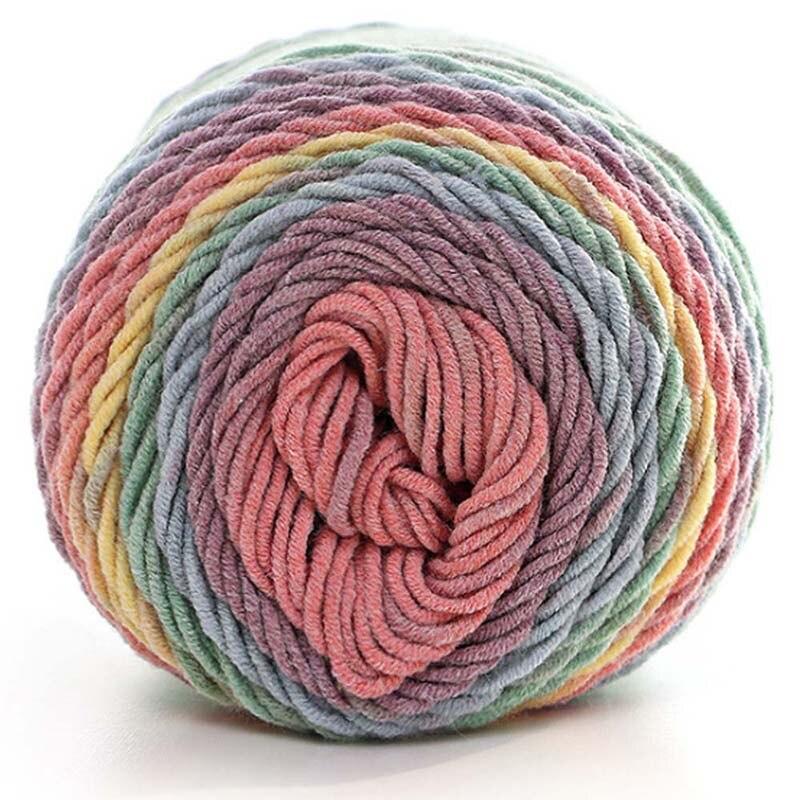 Natural Soft Silk Milk Cotton Yarn Thick Yarn Knitting Lover Scarves Knitting Wool Crochet Yarn Weave Thread DIY Sweater