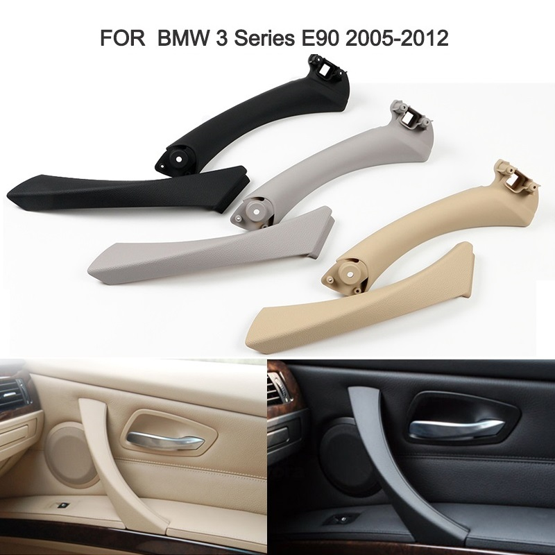 Upgraded Interior Door Pull Handle With Cover Trim Replacement For BMW 3 series E90 E91 E92 316 318 320 325 328i 2005-2012