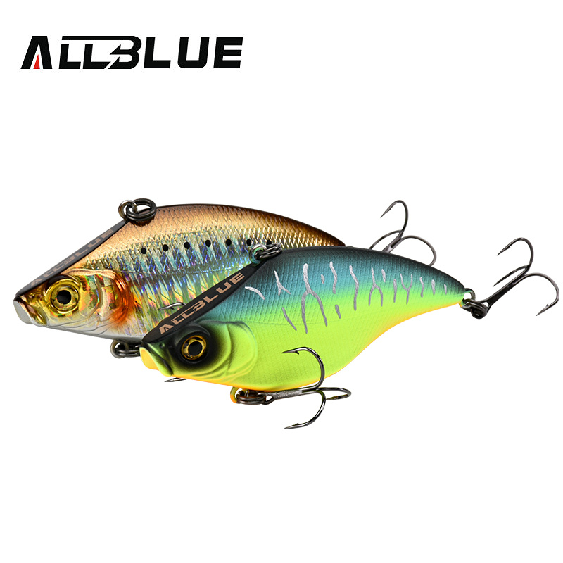 ALLBLUE VIBRATION-X Sinking VIB Fishing Lure Lipless Crankbait Artificial Hard Bait All Depth Winter Pike Bass Fishing Tackle