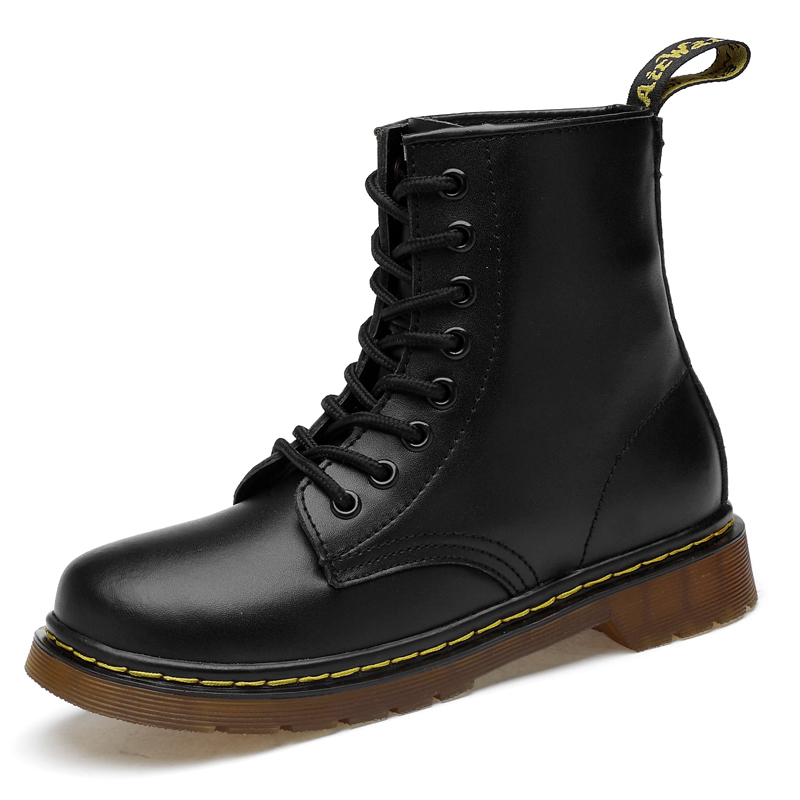 Four seasons unisex couple shoes leather dr martens woman boots shoes Sexy locomotive Ankle Snow Boots For Woman Botas mujer