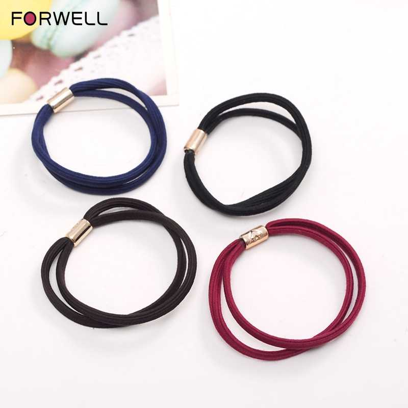 FORWELL 3PCS Good elasticity super tight Double string hair bands hair strands hair accessories