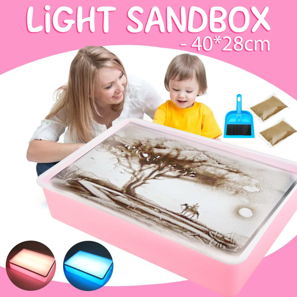 Educational Toys Sand Table Training Special Parent-Child Kindergarten Lighting Sand Painting Children's Toys