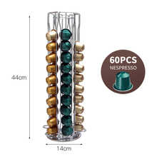 2020 Practical Coffee Capsule Holder Coffee Pod Holder Tower Stand for 60 Nespresso Capsules Storage Soporte Capsulas Holder