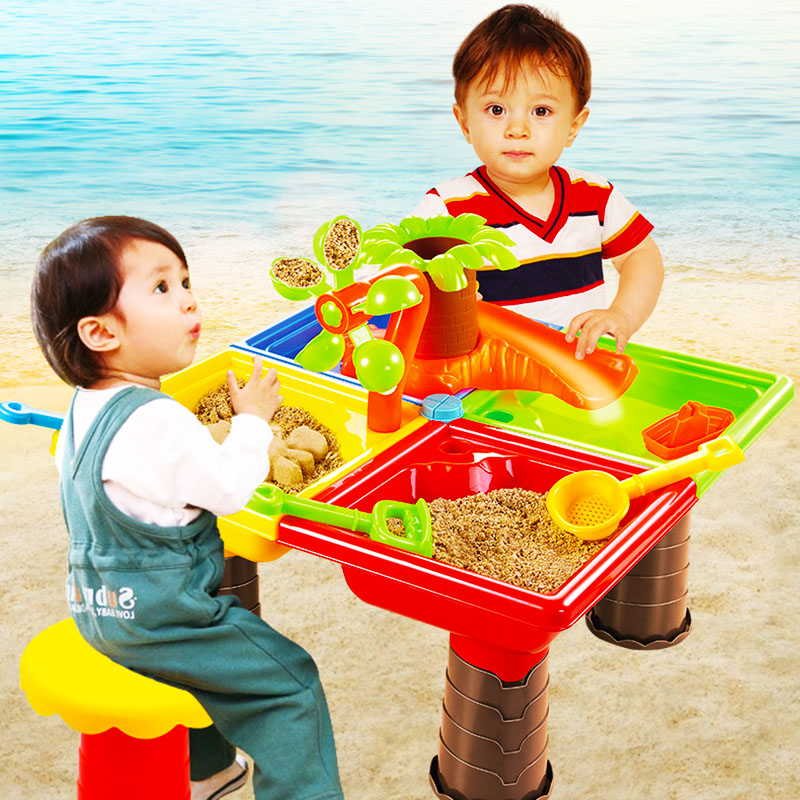 Children's Beach Table Baby Playing Sand Dredging Tools Kids Playing Sand Toys Outdoor Puzzle Parent-child Activities Set Gifts
