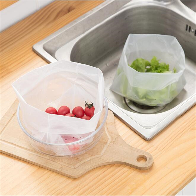 Kitchen Sink Strainer Trash Bags Sink self-standing Filter Slag Water Bag Household Disposable Storage Bags Kitchen Supplies