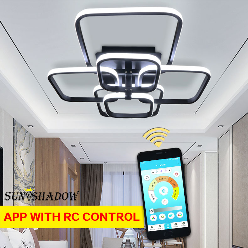 H921acf06a8a645d9b072be5b8eb166a40 Modern LED Ceiling Light Black&White Chandeliers Ceiling Lamp LED Light Fixtures Living room Bedroom Dining room Kitchen Lustres