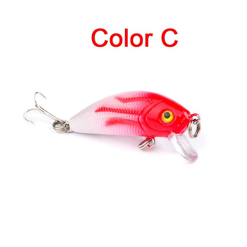 Minnow Esche Da Pesca 5cm 4.2g 3D Occhi di Plastica Dura Esca Crankbait Wobblers Con 10 # Ganci Giappone Artificiale swimbait Peche Affrontare