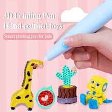 Tenwin Diy Printer Pen 3D Printing Pen Lage Temperatuur Veiligheid Kids Graffiti Pen Set Afdrukken Artefact Cultiveren Hersenen Speelgoed 7100