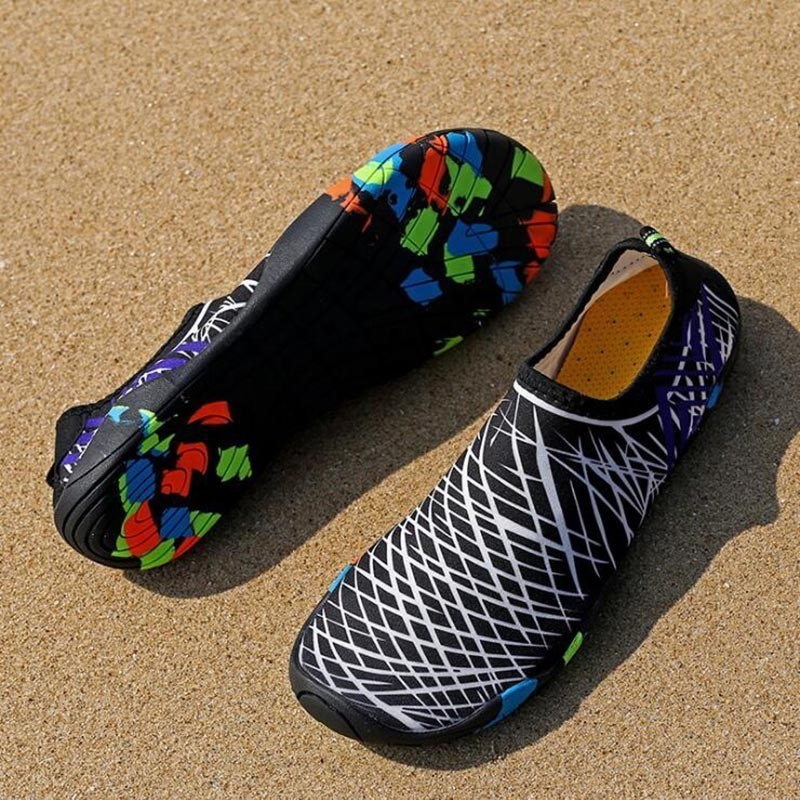Men Women  Aqua Shoes Sneakers Quick Dry Swimming Footwear Unisex Outdoor Breathable Upstream Beach Shoes 25