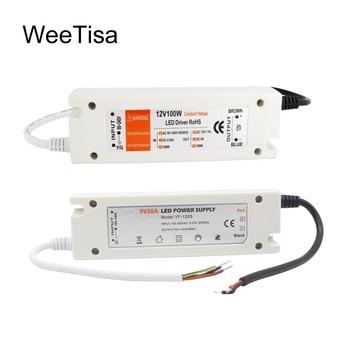 цена на 5V Power Supply 12V LED Driver 5 Volt Power Adapter 12 Volt 60W 72W 100W AC 110V 220V to DC 5V 12V 8A 20A LED Strip Transformer