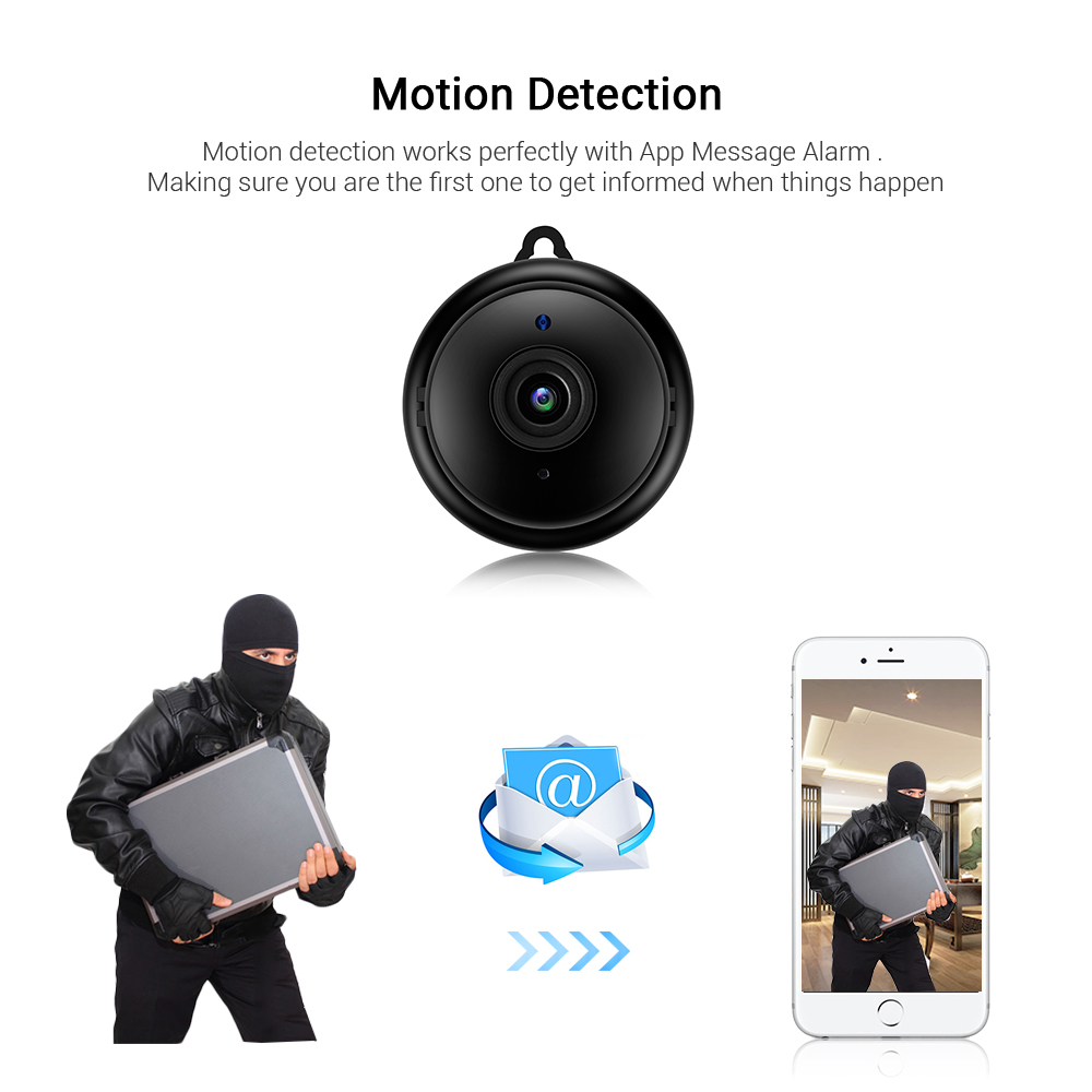 Mini Wifi IP Camera HD 1080P Wireless Indoor Camera Nightvision Two Way Audio Motion Detection Baby Monitor V380