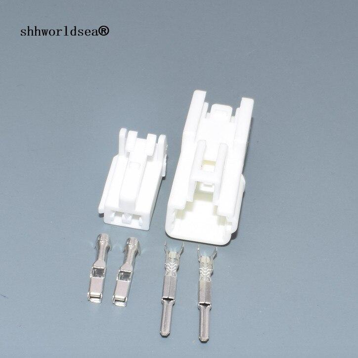 Shhworldsea 2 Pin 2.2mm Female Male Automotive Wiring Connector Auto Reading Light ABS Sensor Socket Seat Motor Plug For Toyota