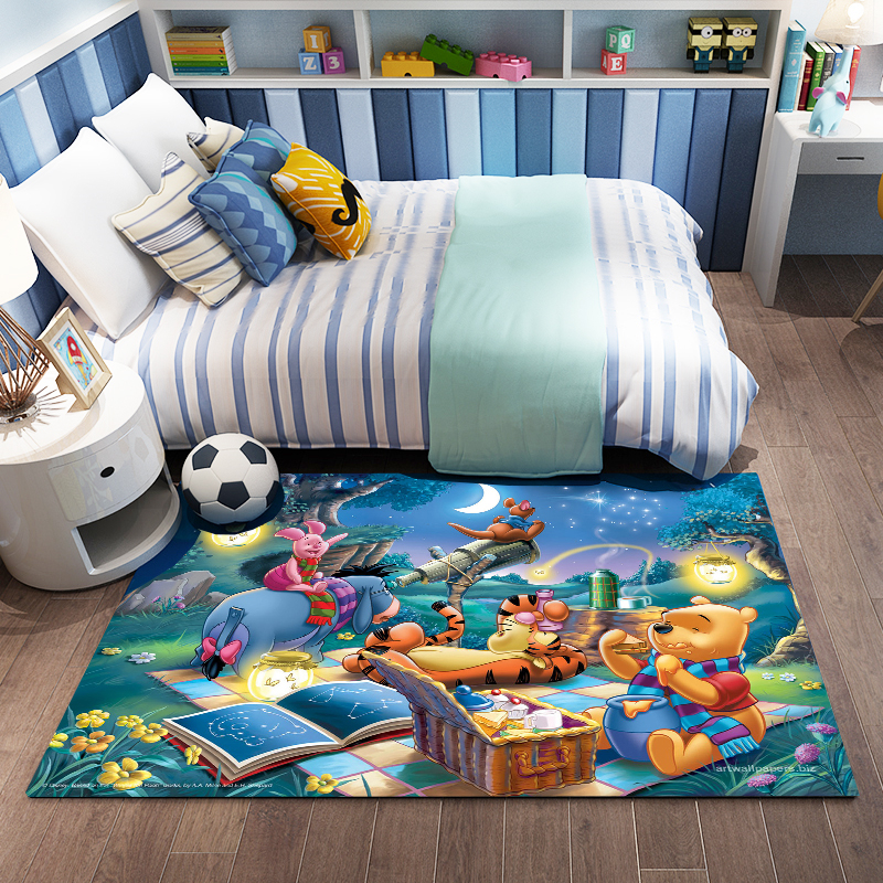 Cartoon  3D Print Kids Playmat Soft Cozy Resin Doormat Crawling Carpet For Living Room Large Rugs Doormat  Playmat Baby