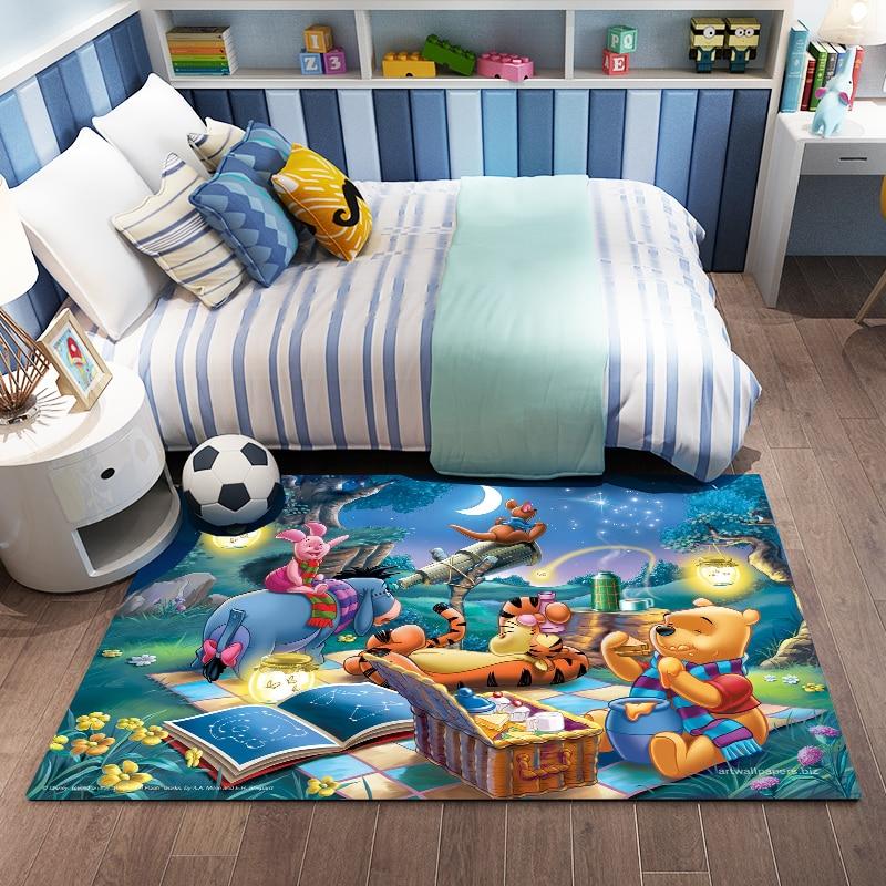 Cartoon  3D Print Kids Playmat Soft Cozy Resin Doormat Crawling Carpet For Living Room Large Rugs Doormat  Playmat Baby
