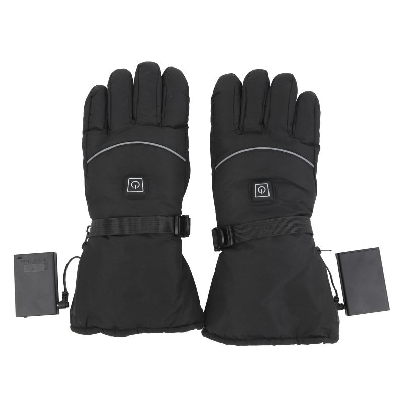 Upgraded Heated Gloves Electric Gloves Battery Box Power Ski Windproof Heating Warm Cycing Gloves For Winter