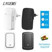 Wireless Doorbell US EU UK Plug Self-Powered Waterproof Door Bell 150M Long Wireless Distance 32 Songs Home Welcome Door Chimes