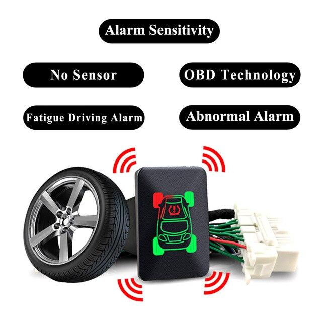 Pour Mitsubishi Outlander 3 2018 Eclipse Cross 2017 voiture OBD TPMS 4 systèmes de surveillance de la pression des pneus alarme de sécurité des pneus pas de capteur
