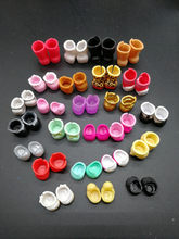 Randomly 10 Pairs/lot Mini Shoes Boots For LOLI Sister Dolls DIY Doll Accessories Kid Birthday Gift Collection Toy(China)