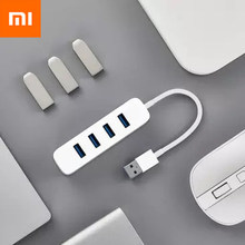 Original New Xiaomi MIjia USB3.0 splitter Four-port USB3.0 high-speed transmission universal interface support for hot swap(China)