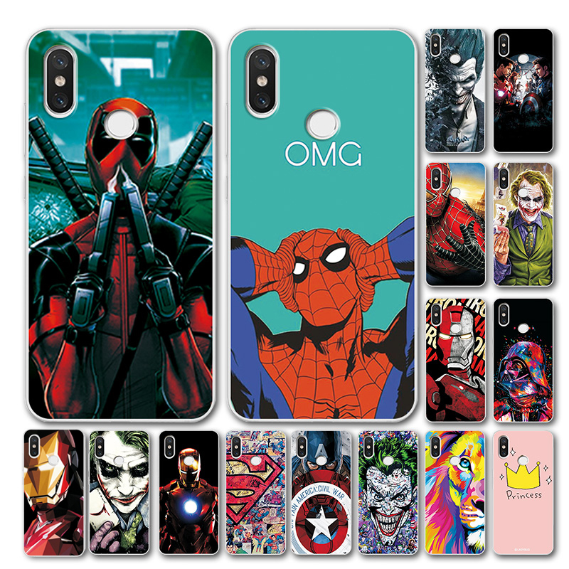Novelty Phone Case For Xiaomi Redmi Note 7 Cover Note 5 Global Version 6 Avengers Soft Silicone Case Coque For Redmi note 7 pro